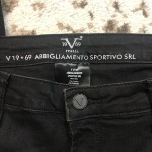 Versace Jeans - Versace grey and black skinny jeans size 10